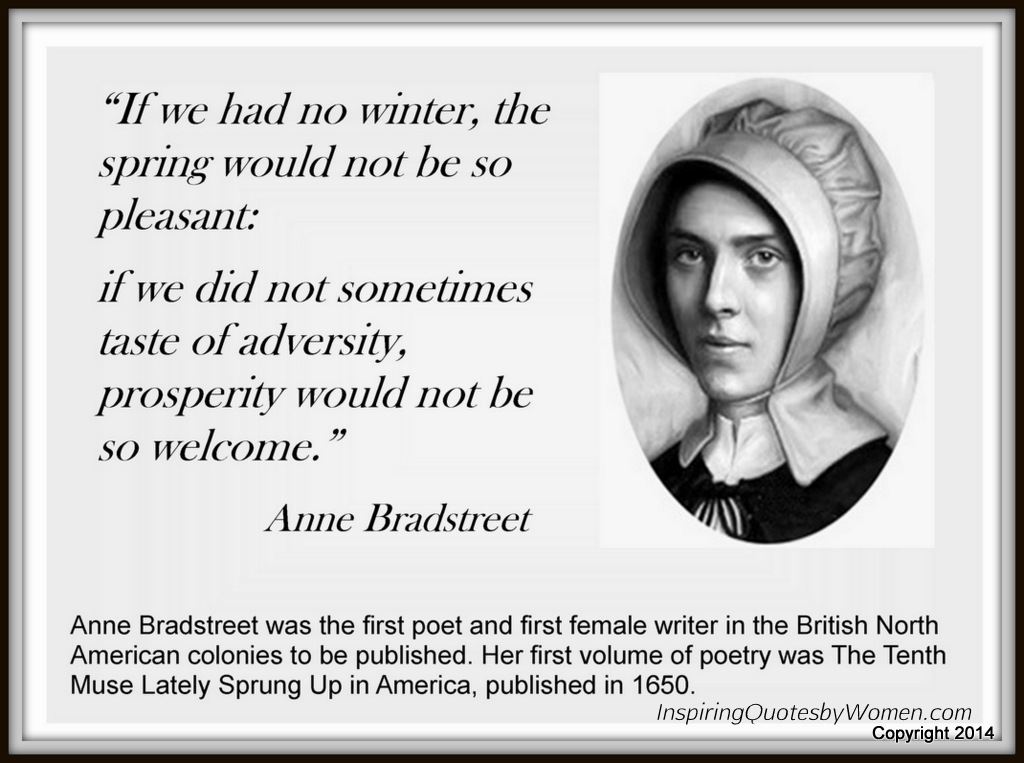 anne bradstreets prolougue and contemplation 2 We will write a custom essay sample on anne bradstreet's prolougue and contemplation specifically for you.